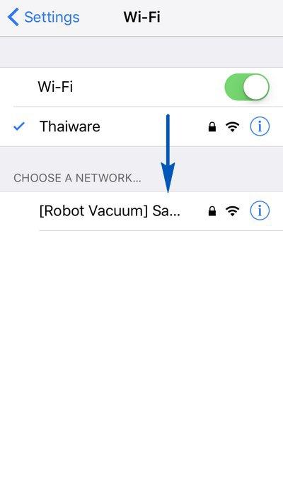 Samsung POWERbot App Add Device Change Wi-Fi SSID