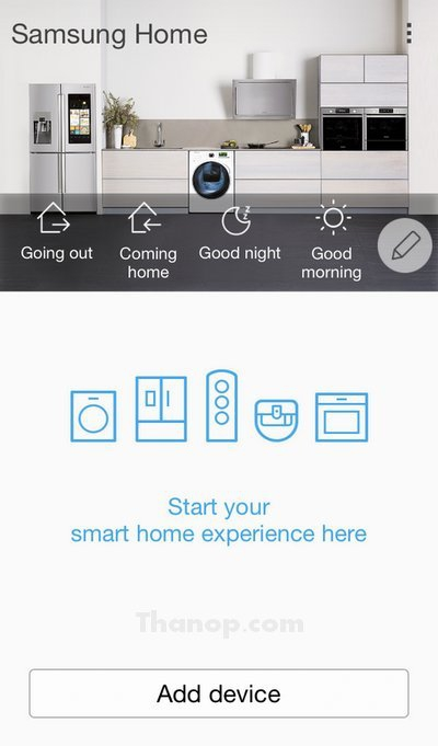 Samsung POWERbot App Add Device
