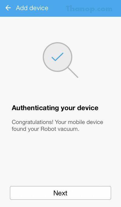 Samsung POWERbot App Congratulation Found Robot