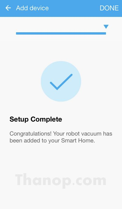 Samsung POWERbot App Setup Completed