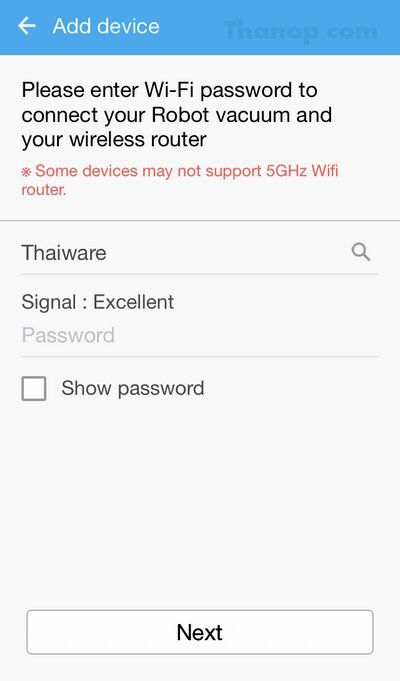 Samsung POWERbot App Wi-Fi Password for Router