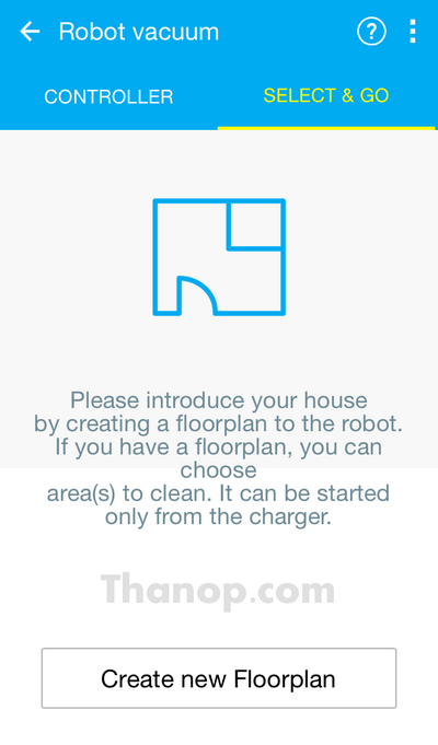 Samsung POWERbot VR9300 App Interface Floorplan Creation