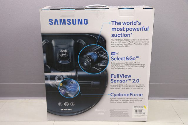 Samsung POWERbot VR9300 Box Rear