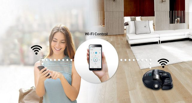 Samsung POWERbot VR9300 Feature Wi-Fi Control