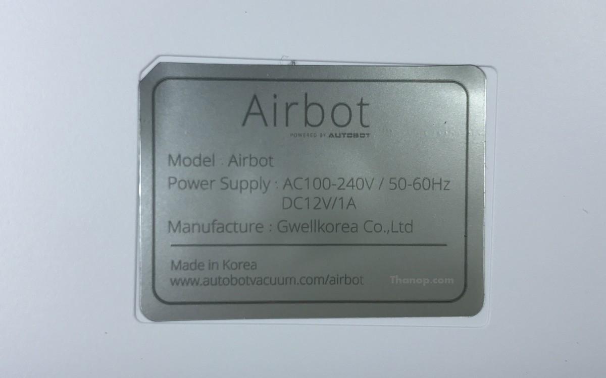 Airbot Underside Label