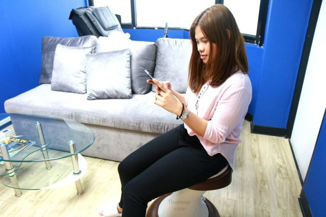 RESTER HULA CHAIR Tester Female 158 cm. Use a Smartphone