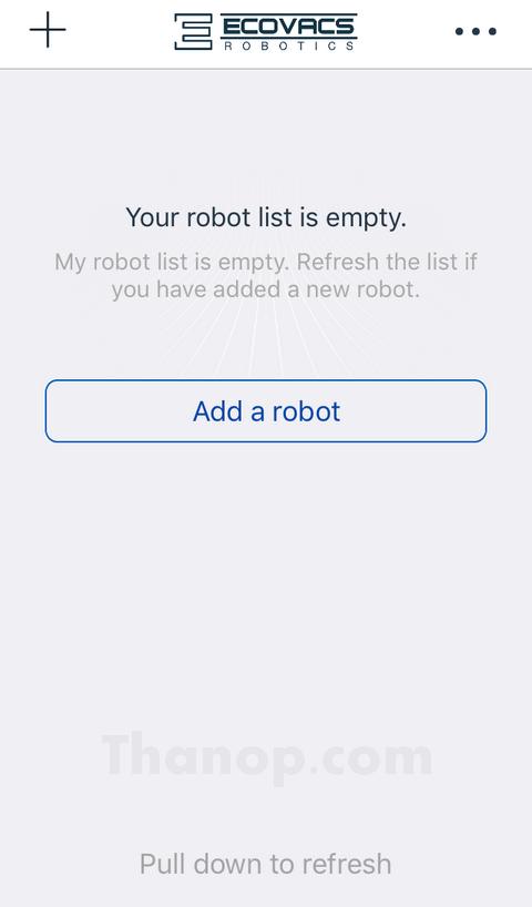 ECOVACS DEEBOT R95 App Add a Robot