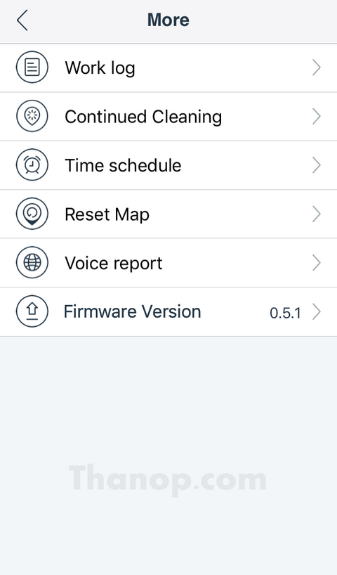 ECOVACS DEEBOT R95 App Interface More Menu