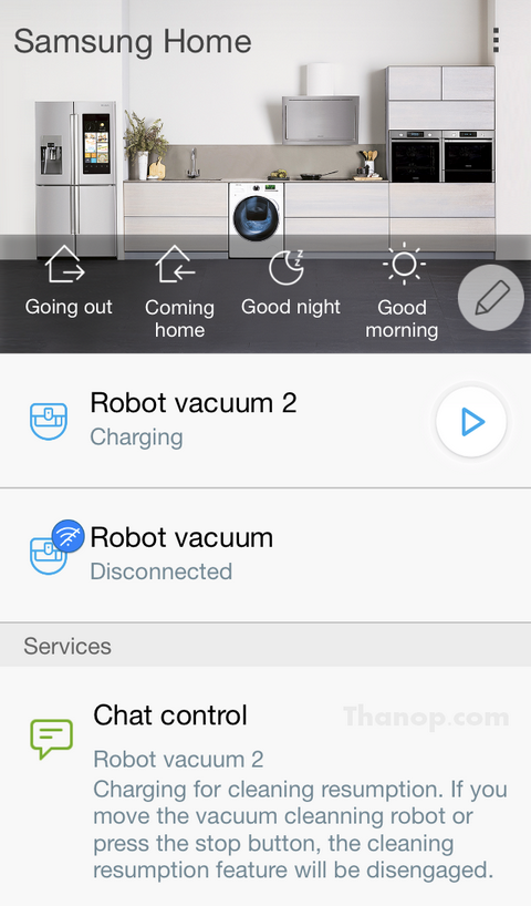 Samsung POWERbot VR7000 App Interface All Devices