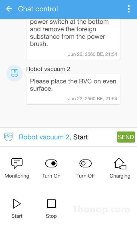 Samsung POWERbot VR7000 App Interface Chat Control