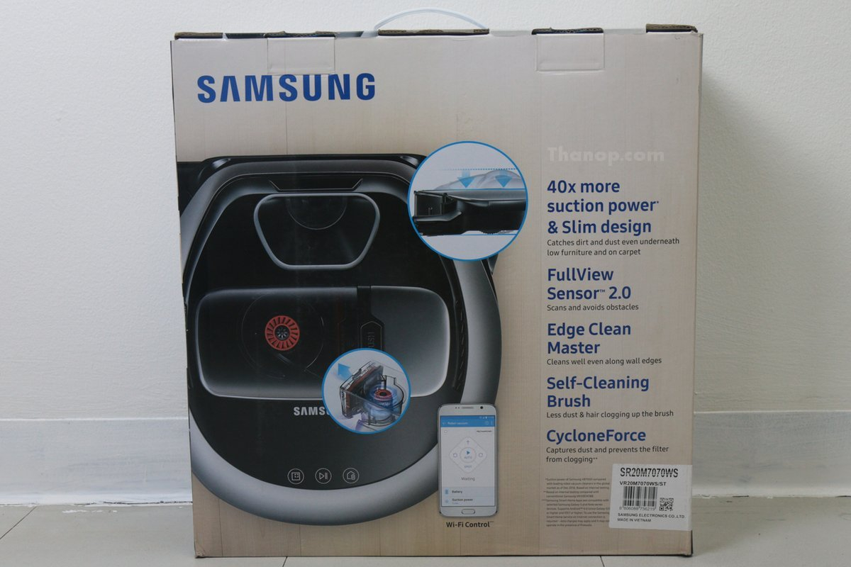 Samsung POWERbot VR7000 Box Rear