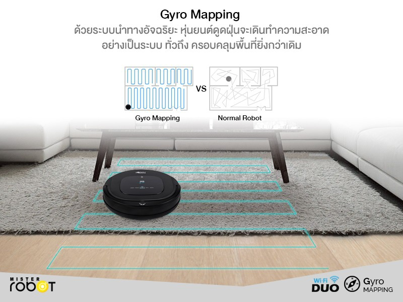 Mister Robot Duo Wi-Fi Feature Gyro Mapping Navigation