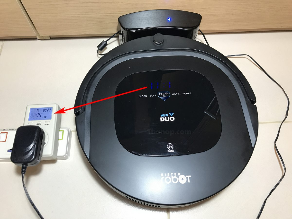 Mister Robot Duo Wi-Fi Power Consumption when Charging