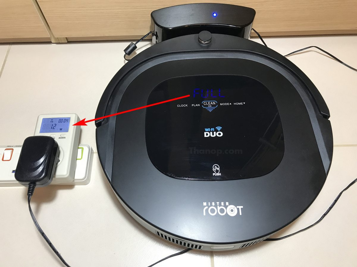 Mister Robot Duo Wi-Fi Power Consumption when Fully Charged