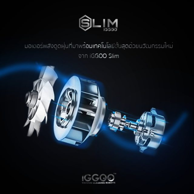 iGGOO Slim Feature Vacuum Fan Motor