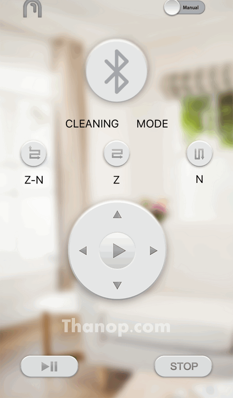 Mister Robot Air Walker App Interface Main Connected