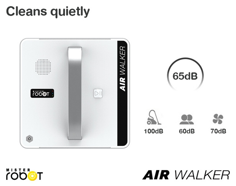Mister Robot AIR WALKER Feature Clean Quietly