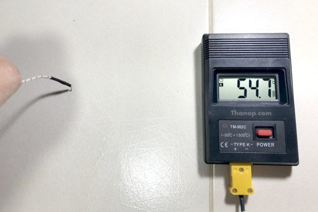 BISSELL Vac and Steam Tile Temperature Test After Steamed