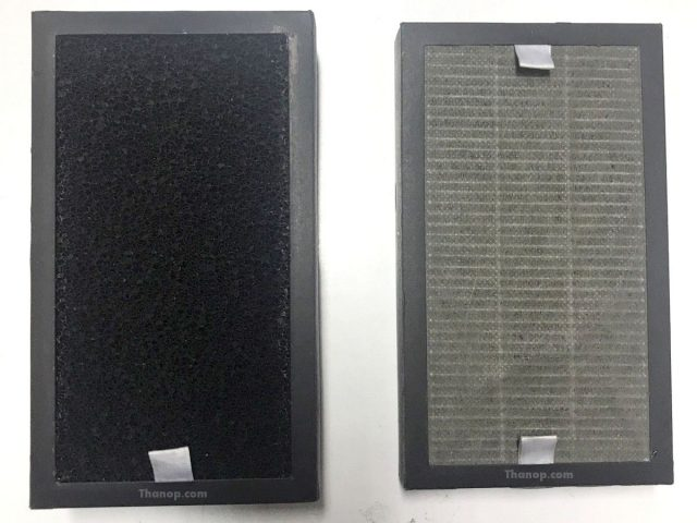 MITSUTA KF-P21 HEPA and Carbon Filter After Used 1