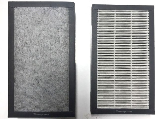 MITSUTA KF-P21 HEPA and Carbon Filter After Used 2