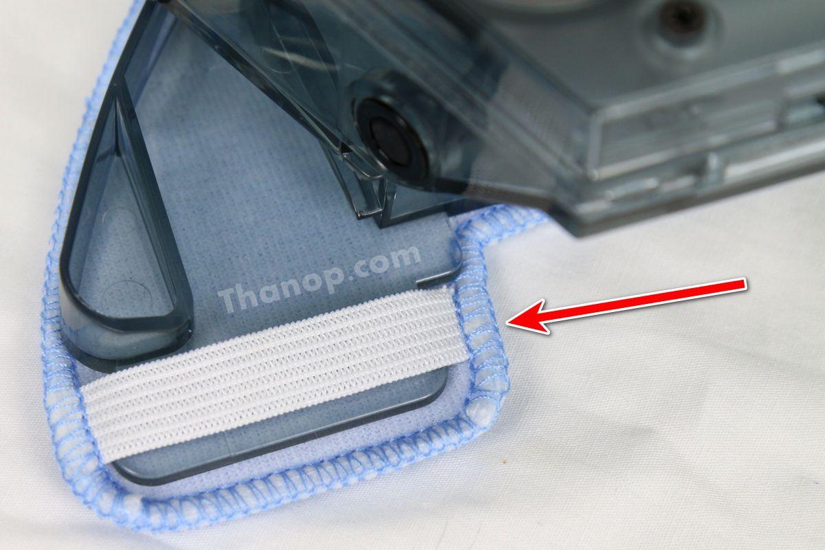 iBOT i900 Hybrid Dibea Microfiber Cloth Installing Elastic Fastened