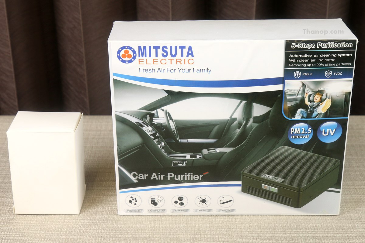 MITSUTA Car Air Purifier MCA150 Box and Adapter Set House Box