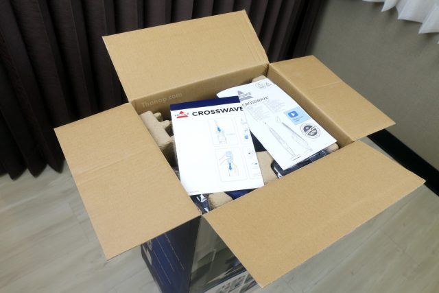 BISSELL CrossWave Box Unpacked with Cover