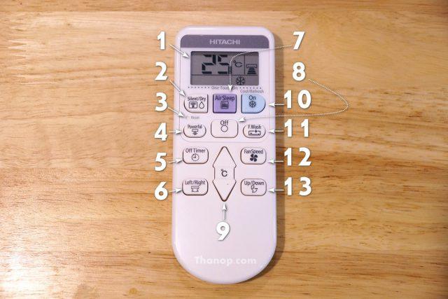 HITACHI Frost Wash AX18CJT Component Remote Control