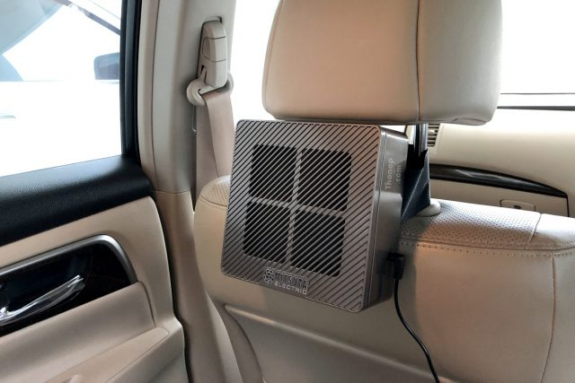 MITSUTA Car Air Purifier MCA150 Working on Car Headrest Holder Nissan Teana