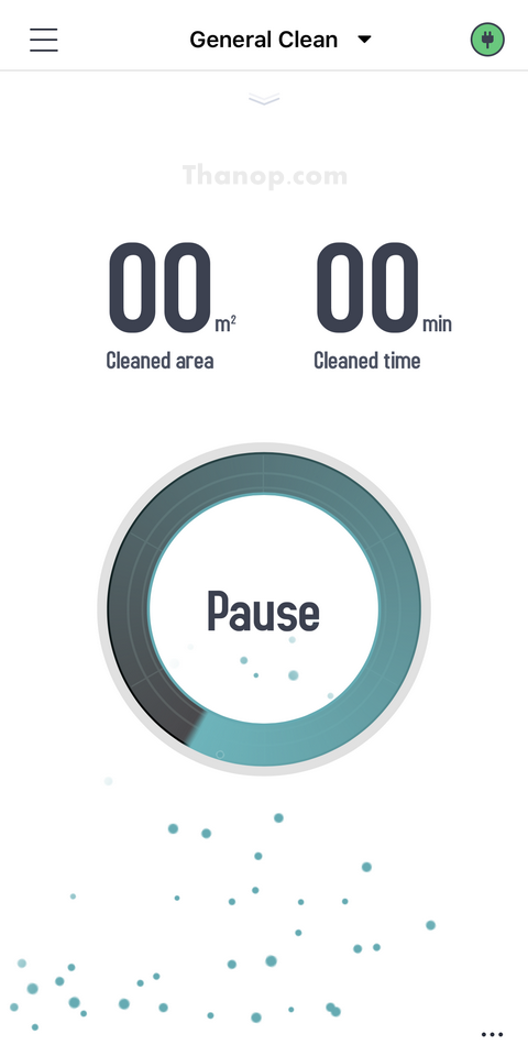 AUTOBOT Lazer App Interface Main Cleaning