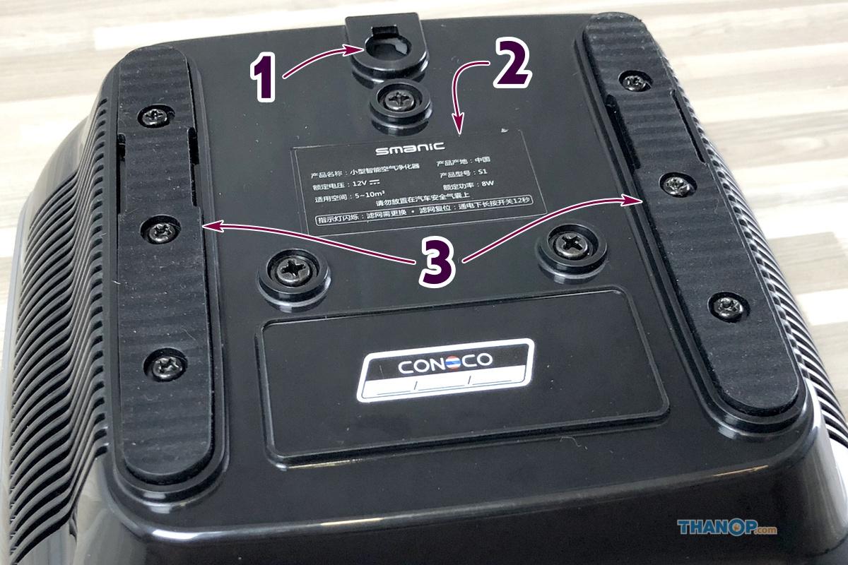 CONOCO Car Air Purifier S1 Component Underside