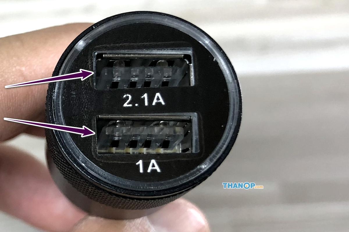 CONOCO Car Air Purifier S1 USB Car Adapter Top