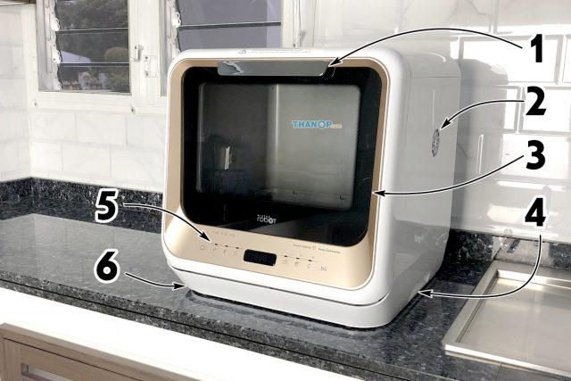 Mister Robot Home Dishwasher Component Front and Side