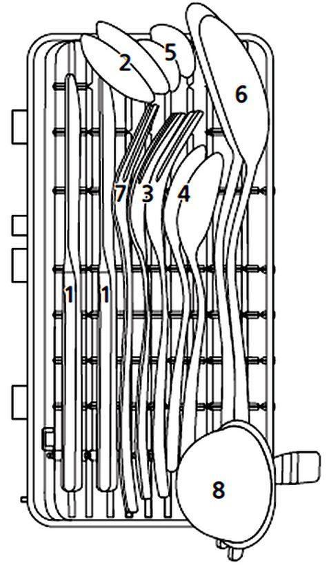 Mister Robot Home Dishwasher Cutlery Basket Utensil Layout