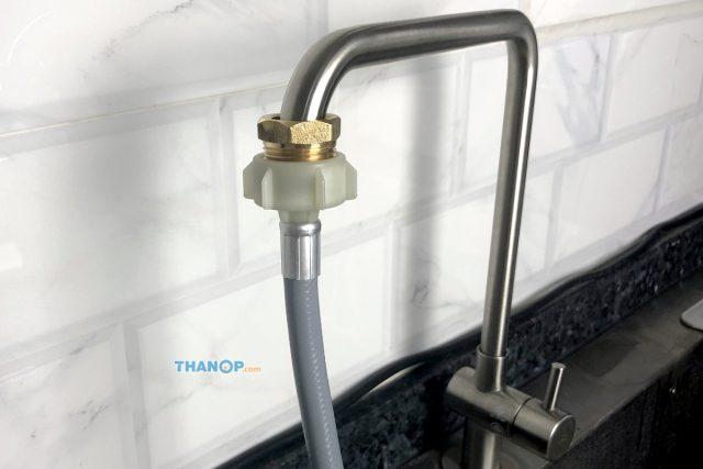 Mister Robot Home Dishwasher Inlet Hose Connected to Kitchen Sink Tap