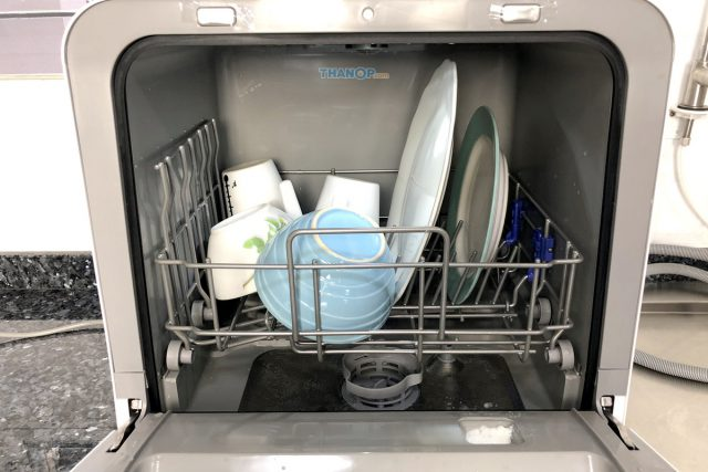Mister Robot Home Dishwasher Tableware Basket Loaded