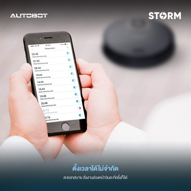 AUTOBOT Storm Feature Flexible Schedule Cleaning