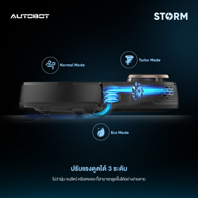 AUTOBOT Storm Feature Three Adjustable Suction Power