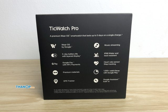 TicWatch Pro Box Rear