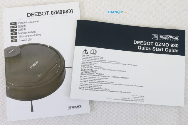 ECOVACS DEEBOT OZMO 930 User Manual and Quick Start Guide
