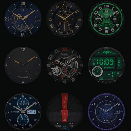 TicWatch Pro Feature Watch Face with Google Play