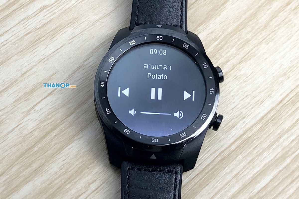 TicWatch Pro Screen Media Control
