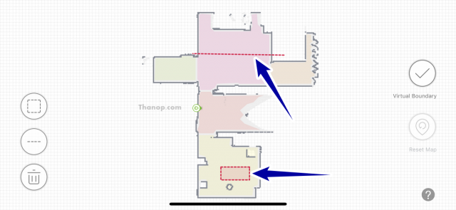 ECOVACS DEEBOT OZMO 930 App Interface Virtual Boundary