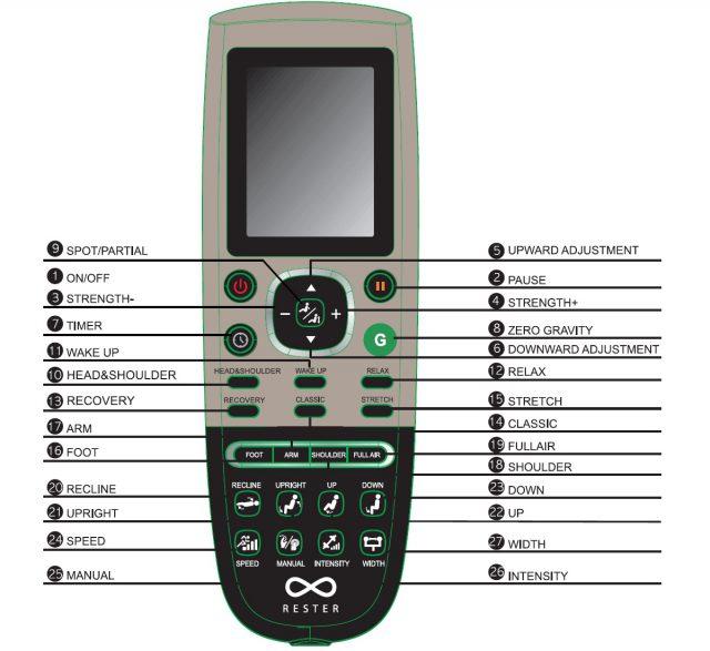 RESTER ARENA EC-355A Component Remote Control