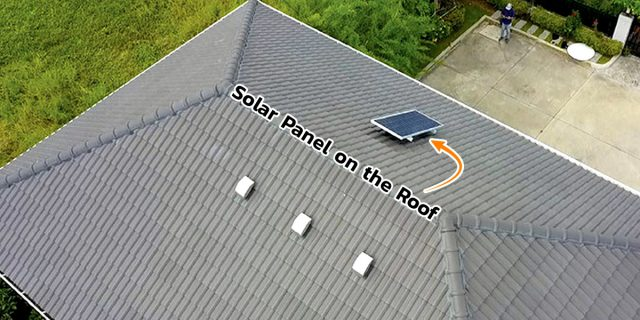 SCG Active AIRflow™ System Solar Panel on the Roof