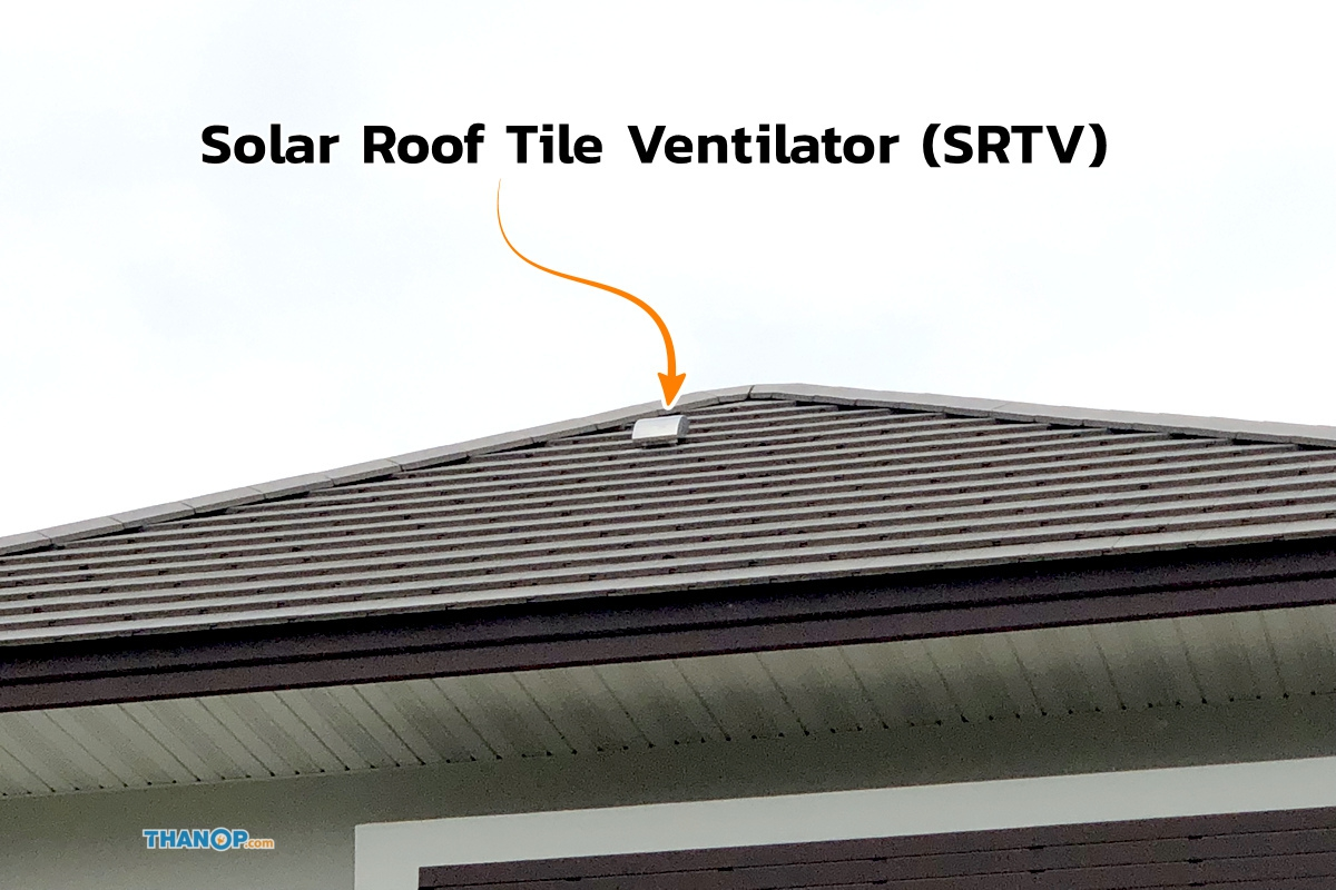 SCG Active AIRflow™ System SRTV Solar Roof Tile Ventilator Outdoor View