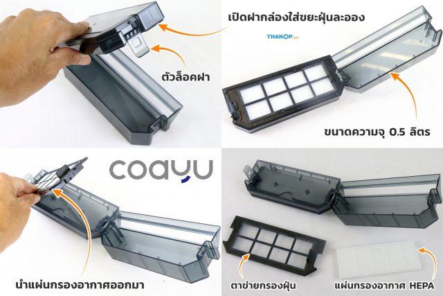 Inspire COAYU C510N Dustbin Detail
