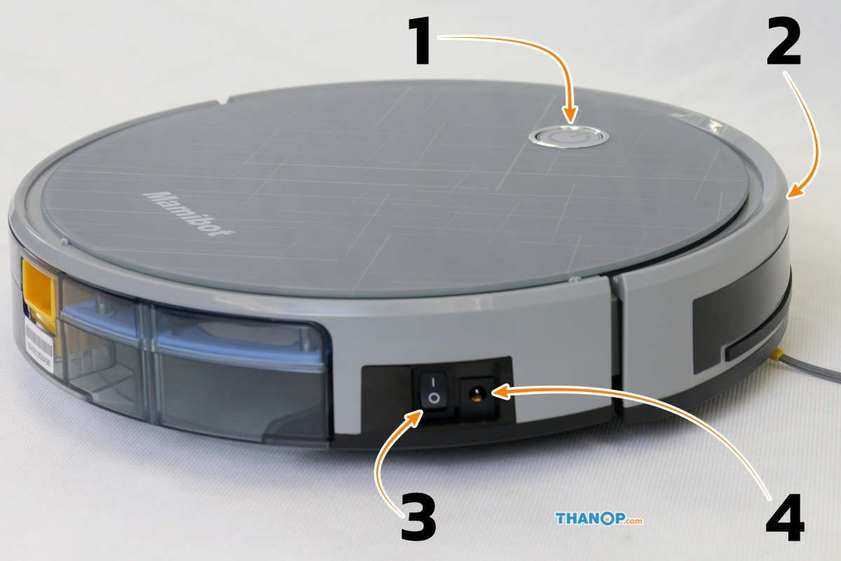 Mamibot EXVAC660 Platinum Component Top and Side