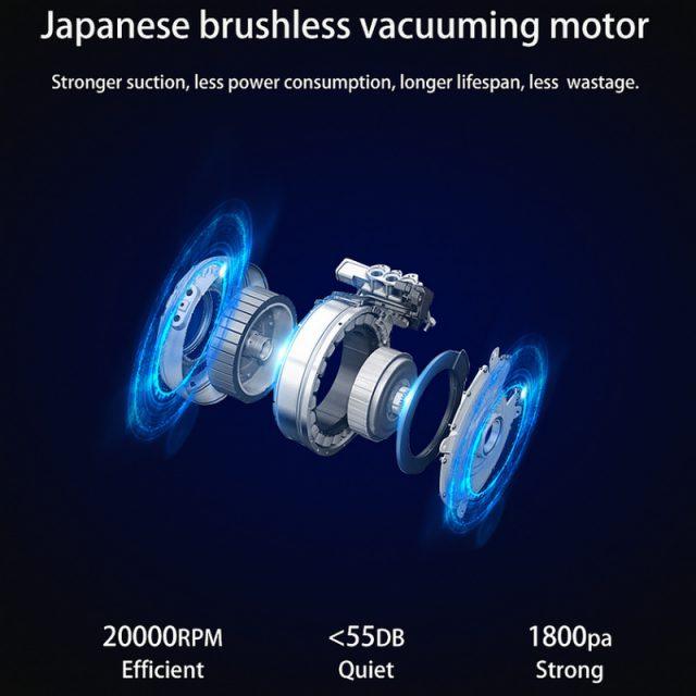 Mamibot EXVAC660 Platinum Feature Japanese Brushless DC Motor