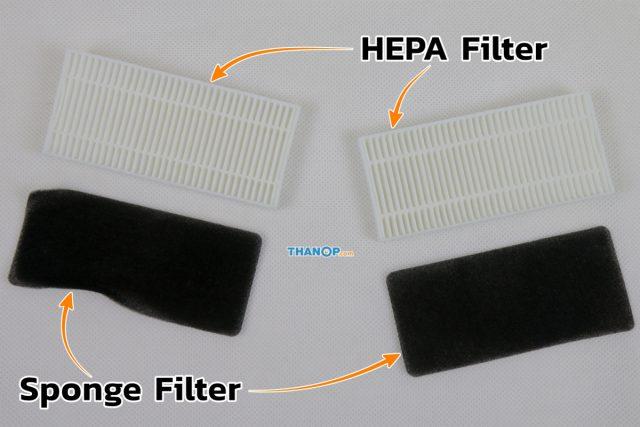 Mamibot EXVAC660 Platinum HEPA Filter and Sponge Filter